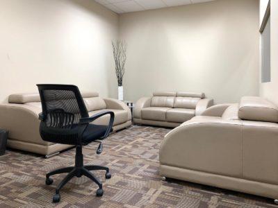 Empty focus group room